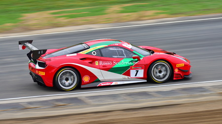 HAMPTON DOWNS, NEW ZEALAND - APRIL 18: Ken Seto racing in a Ferrari 488 Challenge at Ferrari Challenge Asia Pacific Series race on April 15, 2018 in Hampton Downs