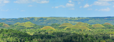The Chocolate Hills geological formation in Bohol, Philippines Stock Photo