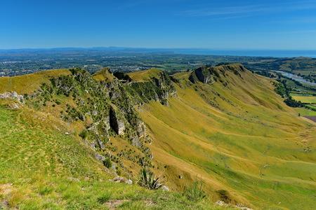 Te Mata Peak and surrounding landscape in Hastings, Hawkes Bay, New Zealand Stock Photo