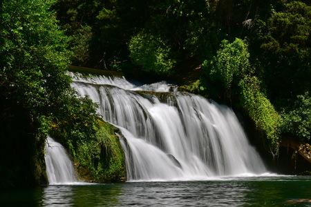 Tiered Maraetotara Falls in Hastings, Hawkes Bay, New Zealand