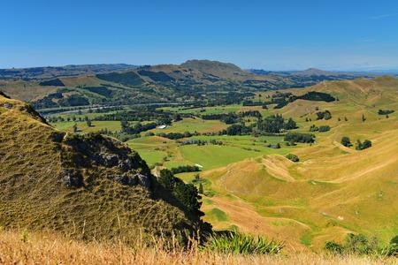 Te Mata Peak and surrounding landscape in Hastings, Hawkes Bay, New Zealand