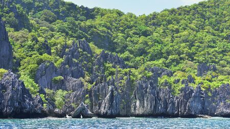 Tropical hilly islands in El Nido, Palawan, Philippines.