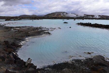 Blue Lagoon geothermal spa in Reykjanes Peninsula, Iceland Redakční