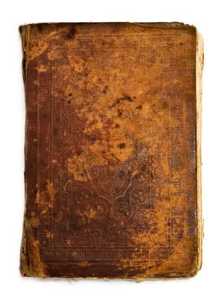 Muy antiguo libro cosecha aislada sobre fondos blancos