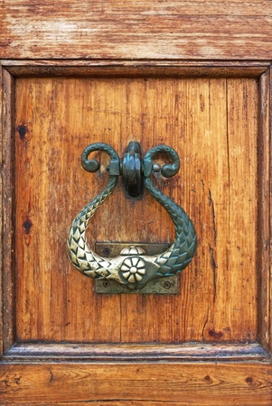 beautiful ancient door locks and doorhandle photo
