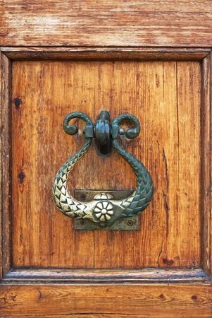 beautiful ancient door locks and doorhandle photo