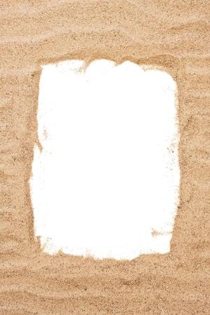 sandy: Mar del marco de la arena, el concepto de vacaciones