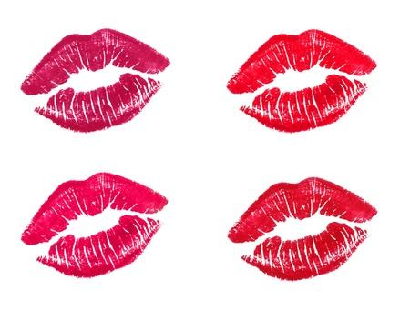 labios hermosos aislados en blanco
