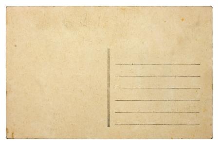 carte: Empty blank vintage post card, 1900s