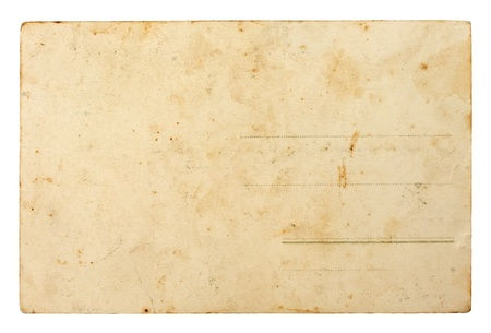 Back side of old postal card 