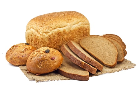 bakery products: bread and bakery products isolated on white background
