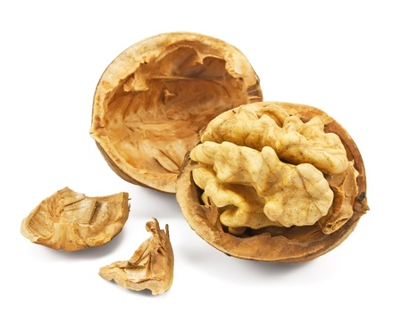 walnuts isolated on a white background  photo