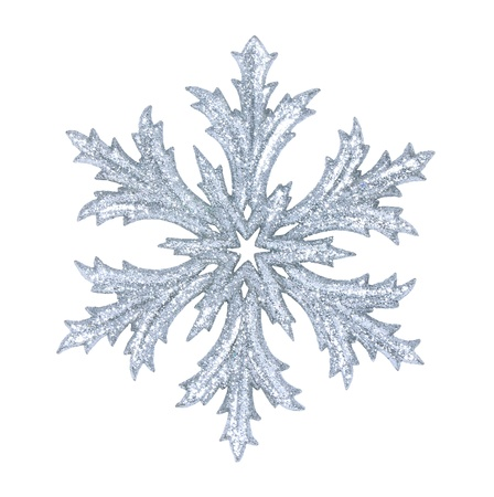 snowflake: shiny snowflake isolated on winter background