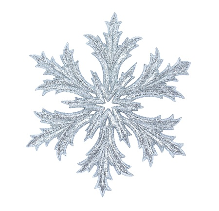 snow crystal: shiny snowflake isolated on winter background