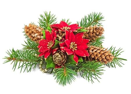decoraci�n de Navidad sobre un fondo blanco