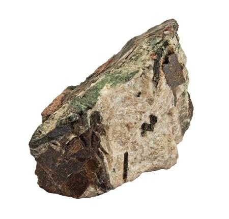 piedra de granito, aislado en blanco