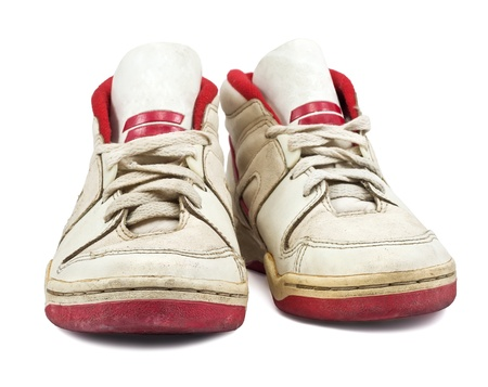 sport shoe: Sport shoe for running on white background Stock Photo