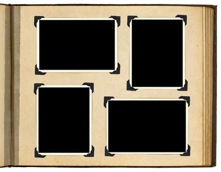 P�gina del �lbum de fotos de �poca, con marcos de fotos