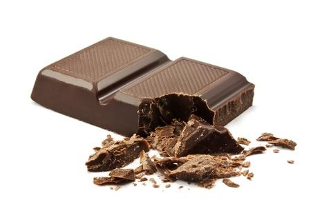 black block: barras de chocolate en el fondo blanco Foto de archivo