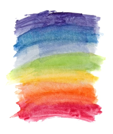 rainbow background: Abstract watercolor rainbow colors background