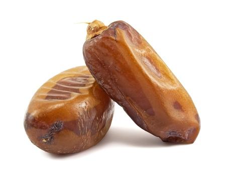 Date fruits on white background photo