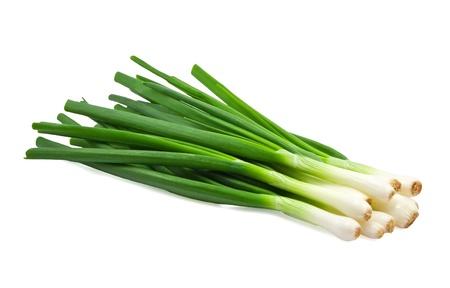 Green Onion on white background Stock Photo