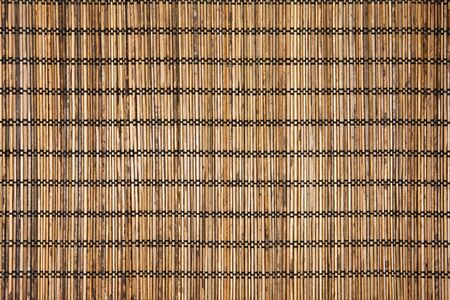 place mat: Traditional brown bamboo pad