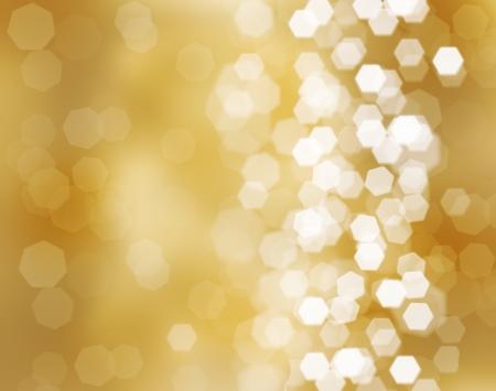nowy: Trzy piękne złote kule Boże Narodzenie na złotym tle
