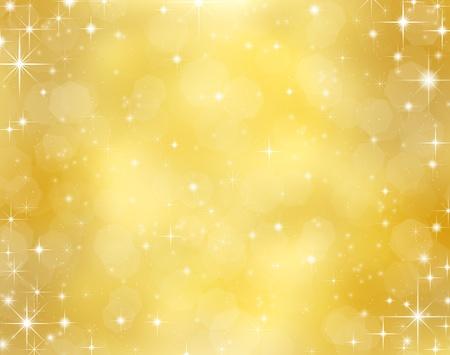 Fondo decorativo de la Navidad con las luces del bokeh y copos de nieve