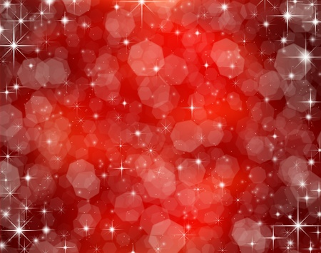 christmas night: Decorative christmas background with bokeh lights and snowflakes Stock Photo