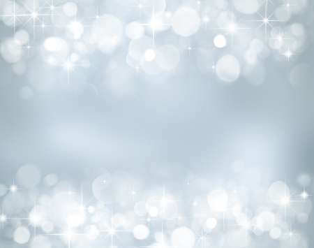 happy feast: Christmas background with stars and bokeh lights Stock Photo