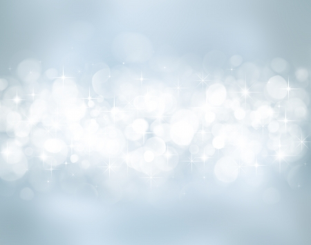 new years eve background: Christmas background with stars and bokeh lights Stock Photo