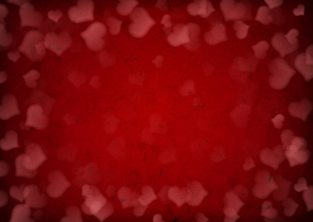 Red grunge Valentines day background  photo