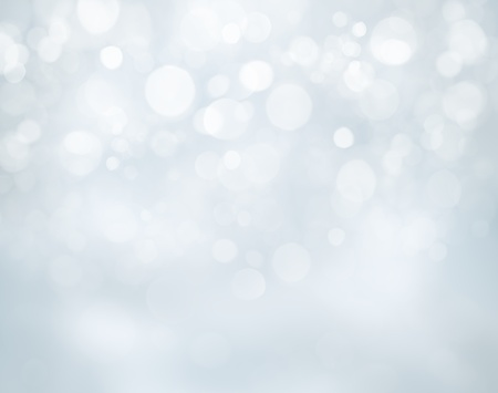 Blue christmas background with bokeh lights Stock Photo