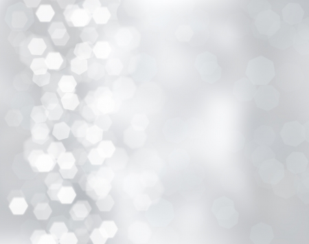 Silver christmas background with bokeh lights 스톡 콘텐츠