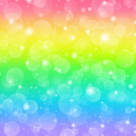 Rainbow holiday background with bokeh lights  photo