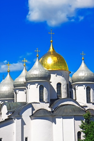 Saint Sophia Cathedral in Kremlin of Great Novgorod Russia photo