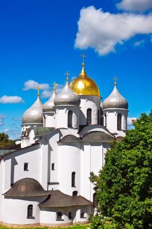novgorod: Saint Sophia Cathedral in Kremlin of Great Novgorod Russia