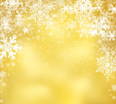 Decorative christmas background with bokeh lights and snowflakes Stock Photo - 22987077