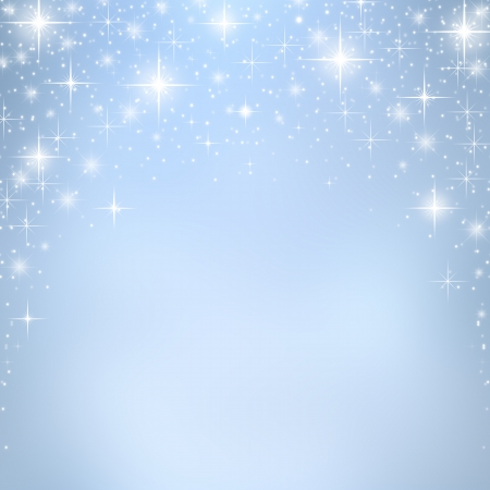 christmas feast: Christmas background with stars and bokeh lights Stock Photo