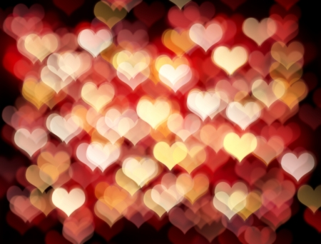 Valentines day background with  bokeh lights Stock Photo
