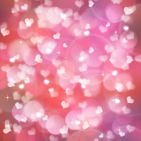 Valentines day background with  bokeh lights photo