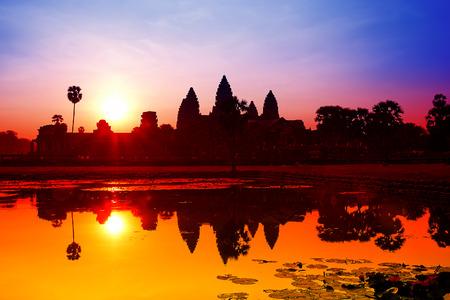 sap: Angkor Wat sunrise at Siem Reap  Cambodia Stock Photo