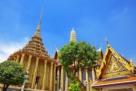 Wat Phra Kaew, Temple of the Emerald Buddha. The Grand Palace Bangkok Thailand  photo