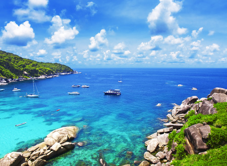 phangnga: Similan islands in Phuket, Thailand Stock Photo
