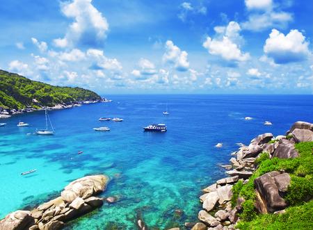 similan islands: Similan islands in Phuket, Thailand Stock Photo