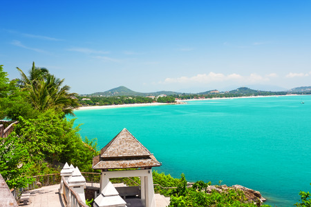 koh: View of Chaweng beach, Koh Samui, Thailand, Asia