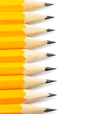 pencils on a white background photo