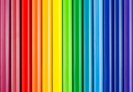 rainbow colours: colorful background with crayons