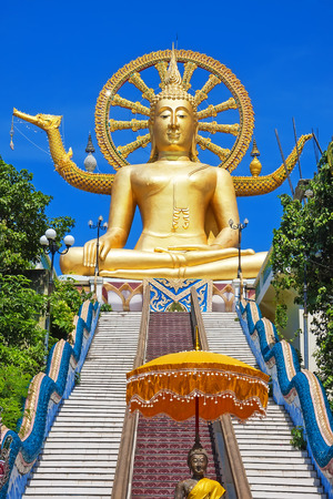 buddha tranquil: Wat phra yai, the big buddha temple at Koh Samui, Thailand